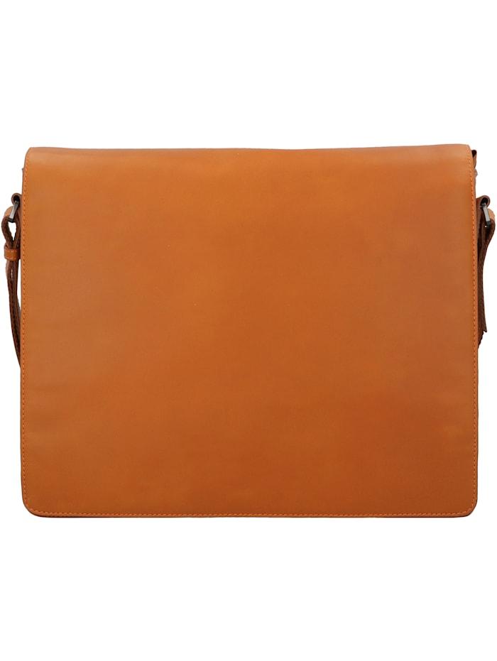 leonhard heyden - Ottawa Messenger RFID Leder 38 cm Laptopfach  orange