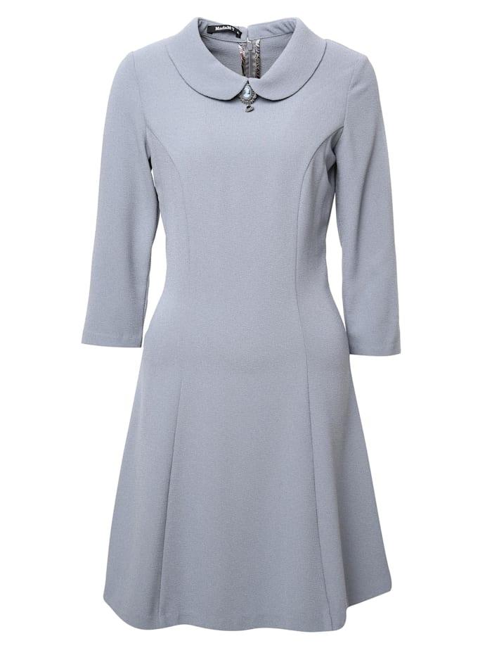 madam-t - Minikleid Kleid Enrica  hellgrau