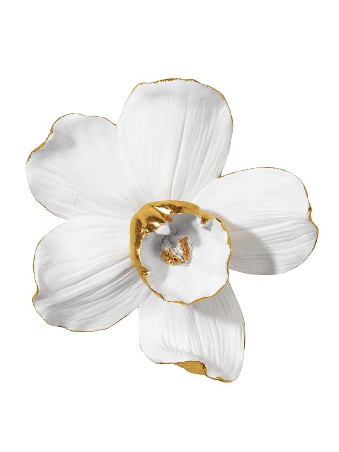 Wanddekoration Orchidee KARE Weiß