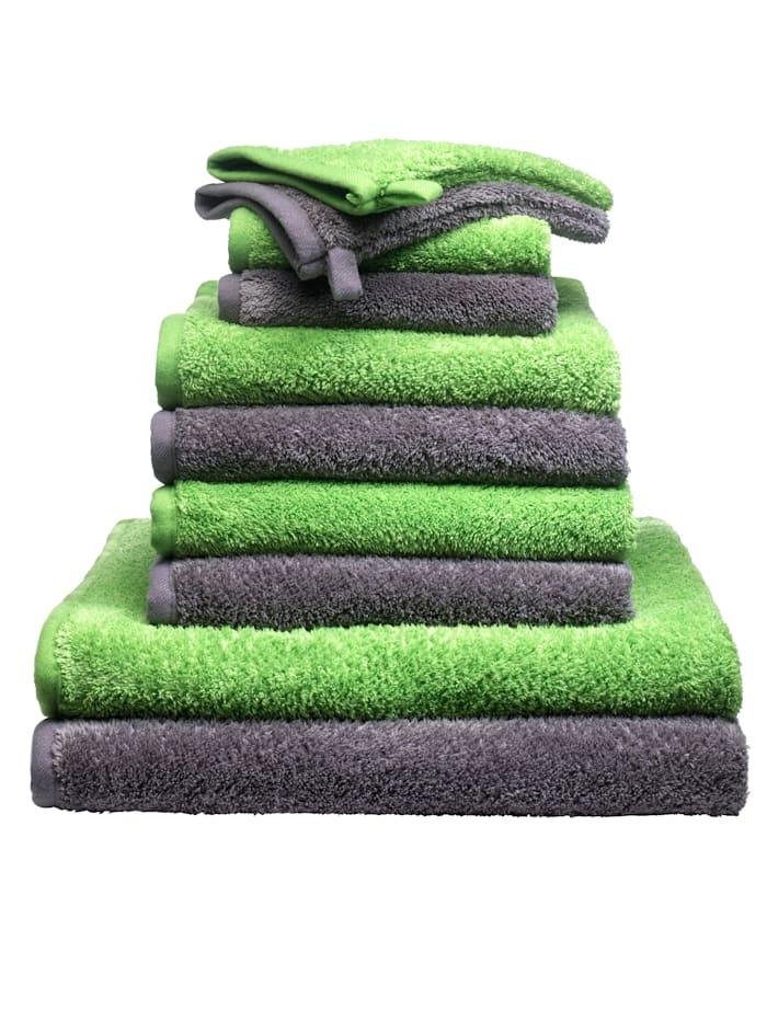 10-delige handdoekenset Berlin Webschatz grijs/groen