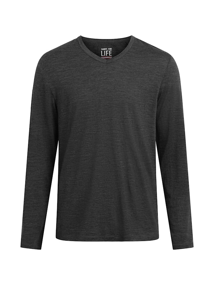 shirts for life - Longsleeve SFL Mens Merino  anthracite