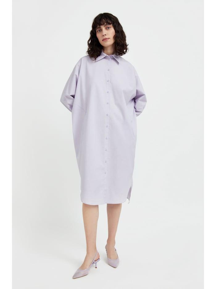 finn flare - Hemdblusenkleid mit lockerem Schnitt  lilac