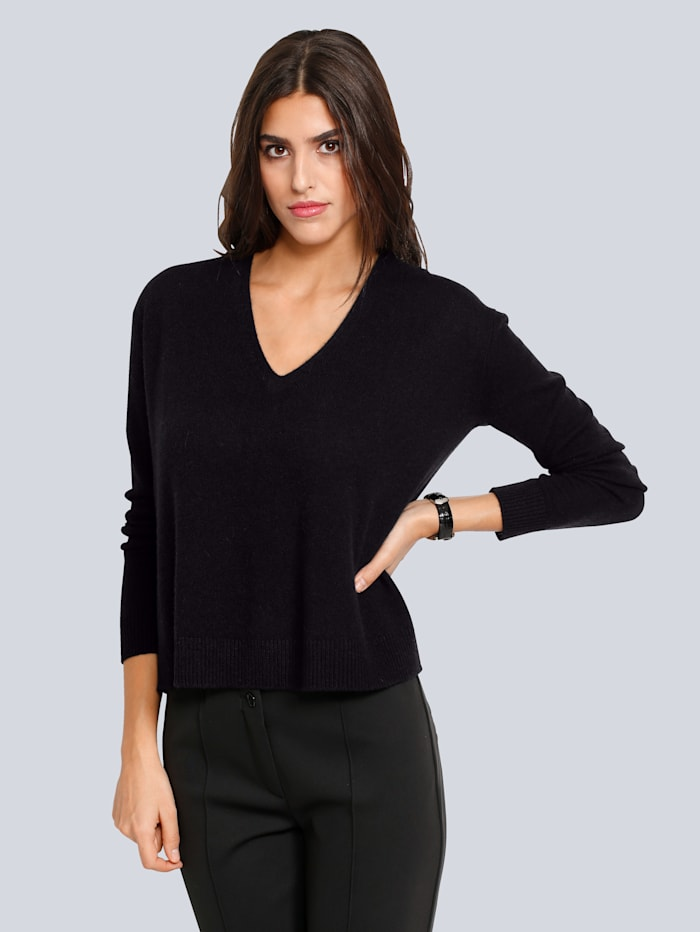Oversized trui van kasjmier Alba Moda Zwart