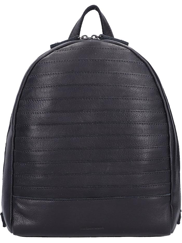 fredsbruder - Bebe City Rucksack Leder 30 cm  black