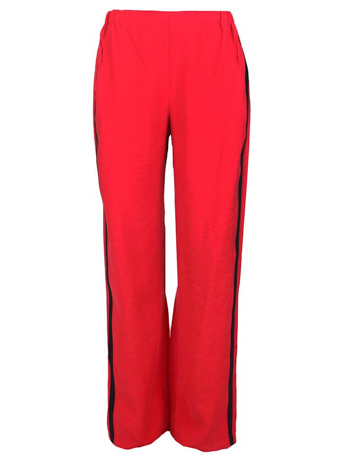 sammer berlin - Hose mit seitlichen Streifen  rot