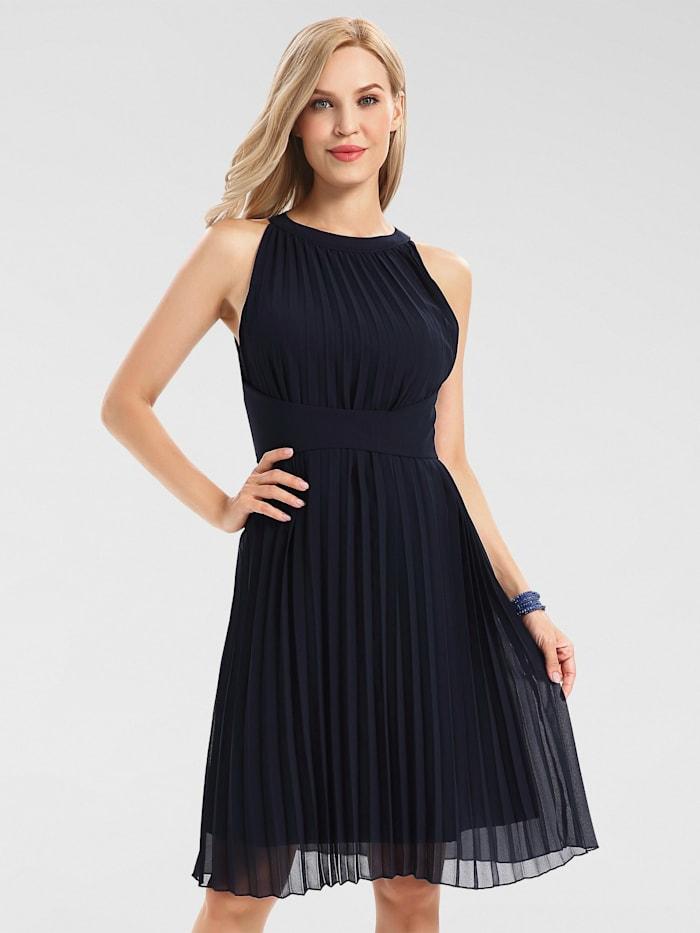 apart - Cocktailkleid plissiert  nachtblau