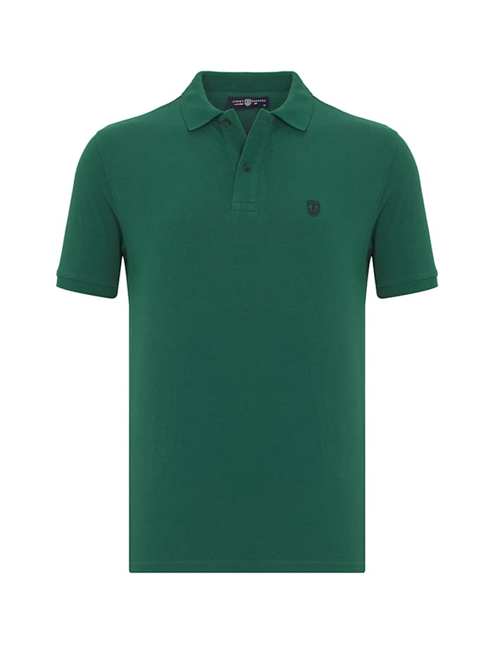 Image of Einfarbiges Kurzarm-Polo Viviano Jimmy Sanders dark green