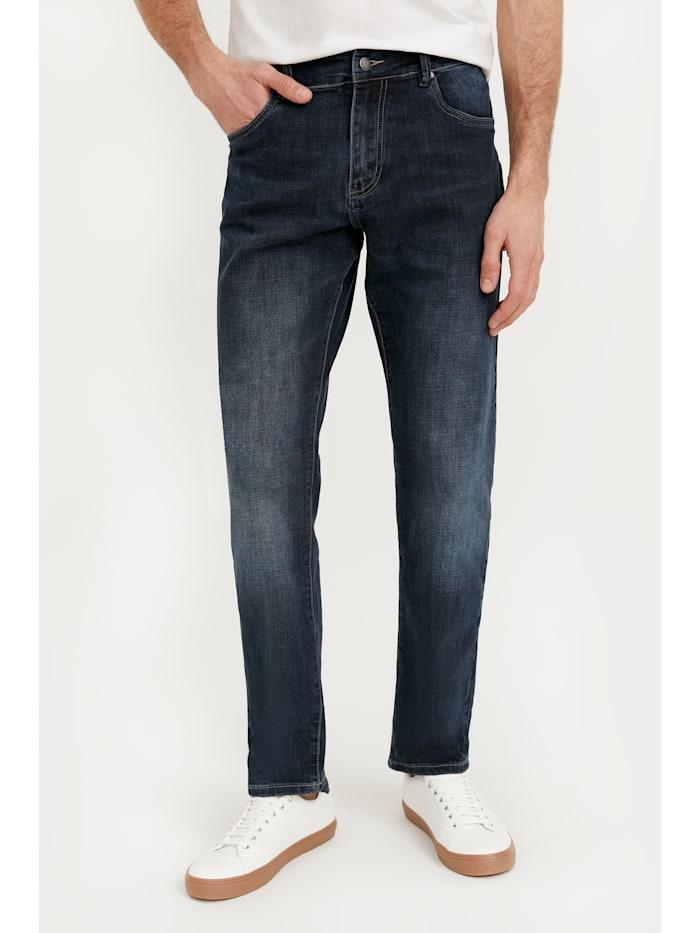 finn flare - Jeans mit geradem Bein  dark blue
