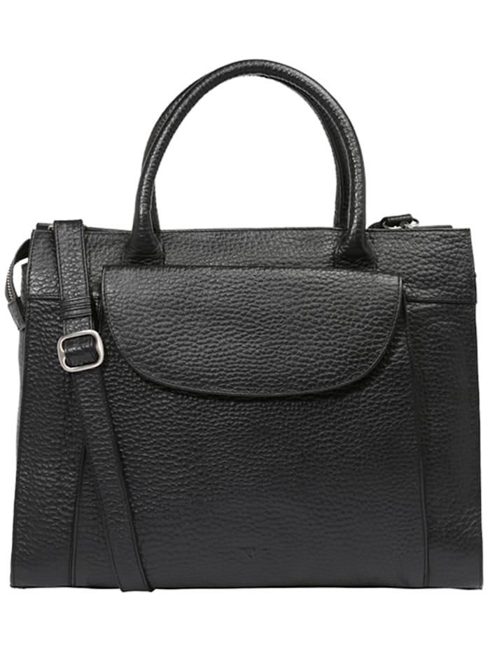 voi - Hirsch Dunja Handtasche Leder 40 cm Laptopfach  schwarz