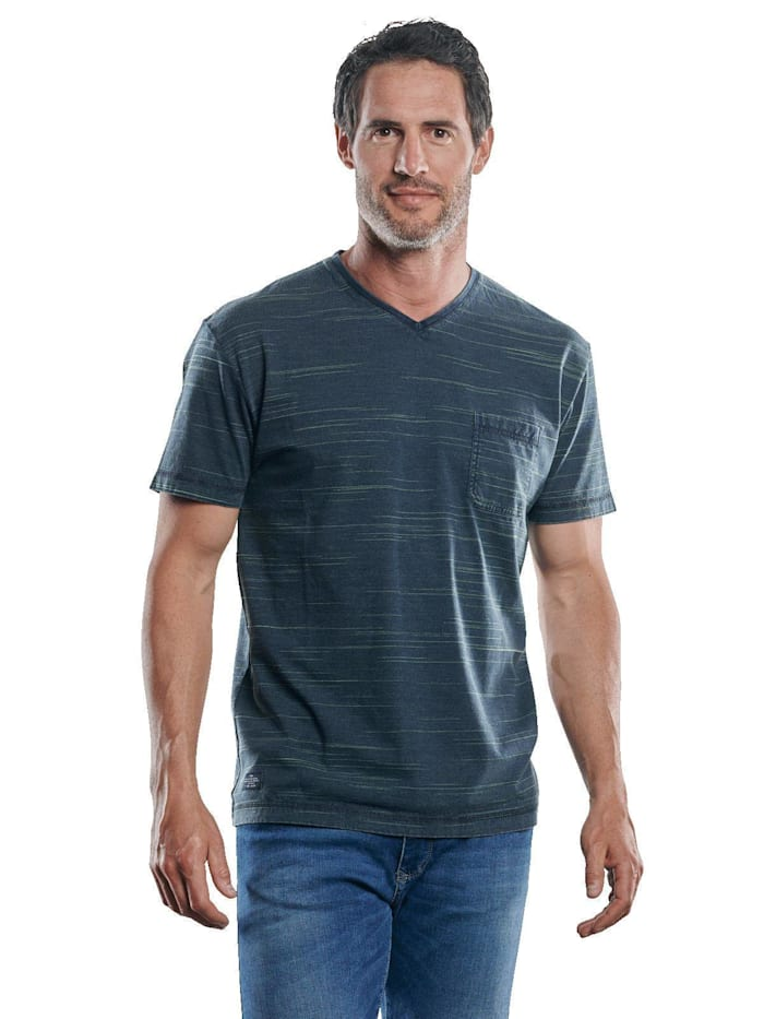 engbers - V-Neck T-Shirt  Petrolblau