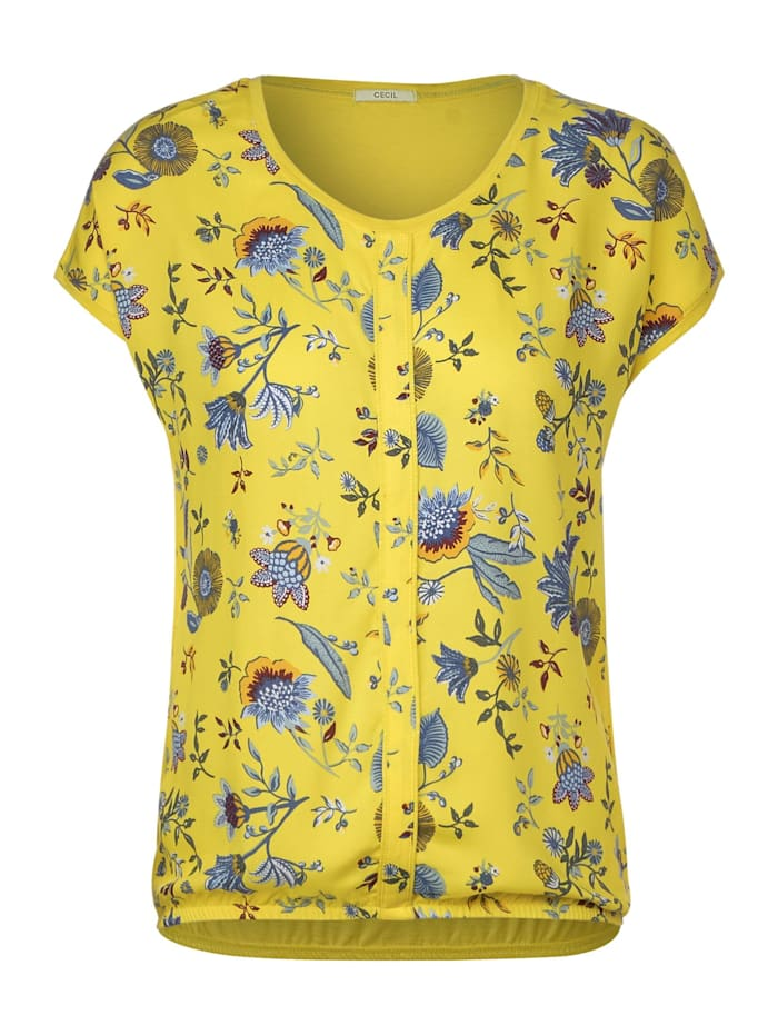 cecil - T-Shirt mit Blumenmuster  radiant yellow