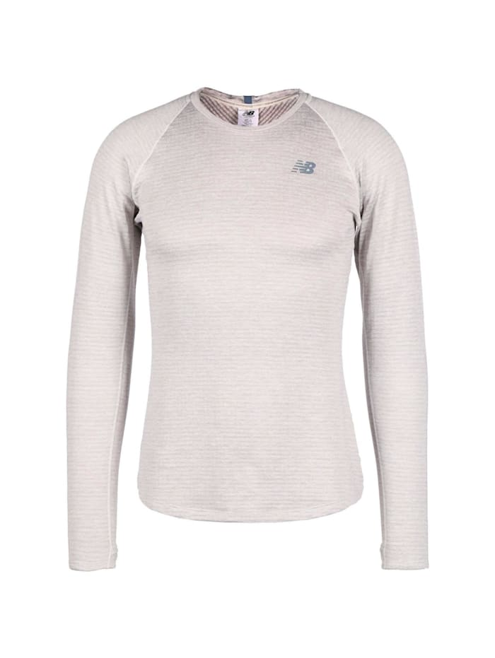 new balance -  Shirt Heatgrid Crew  Grau