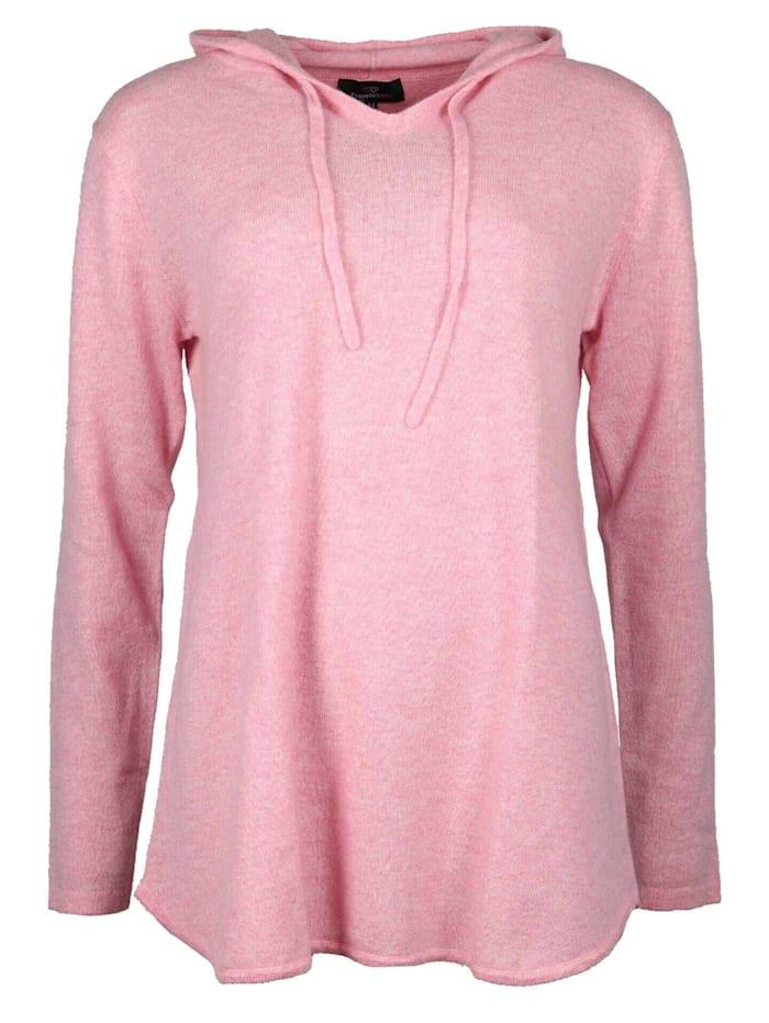zwillingsherz - Hoodie aus 100% Kaschmir  melange pink