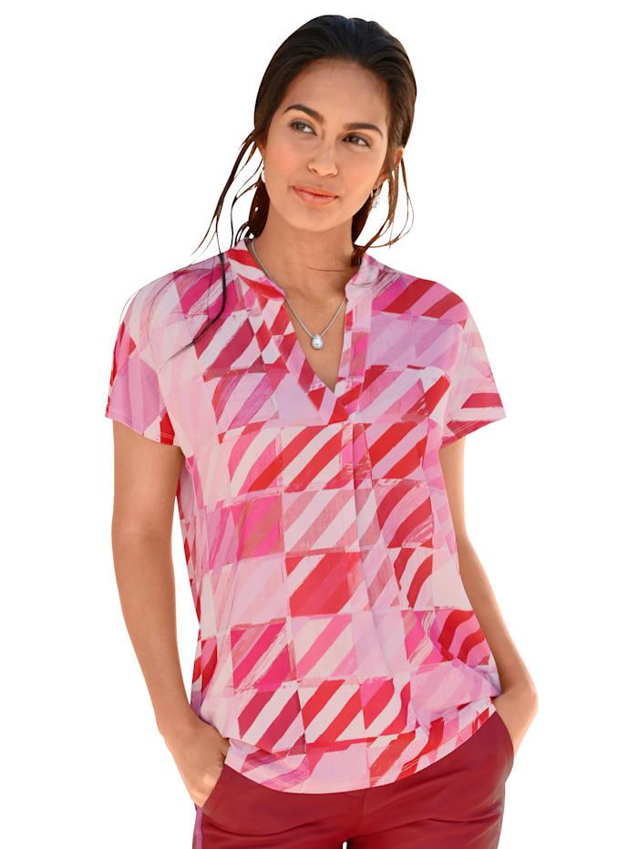 Shirt AMY VERMONT Roze::Wit