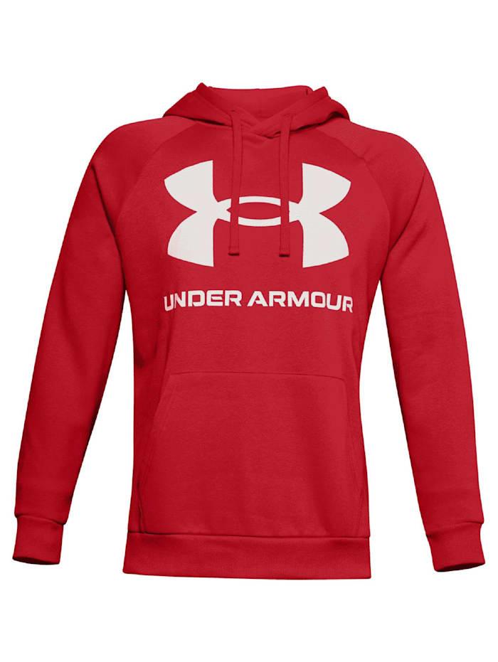 under armour -  Hoodie Rival Fleece Big Logo  Rot