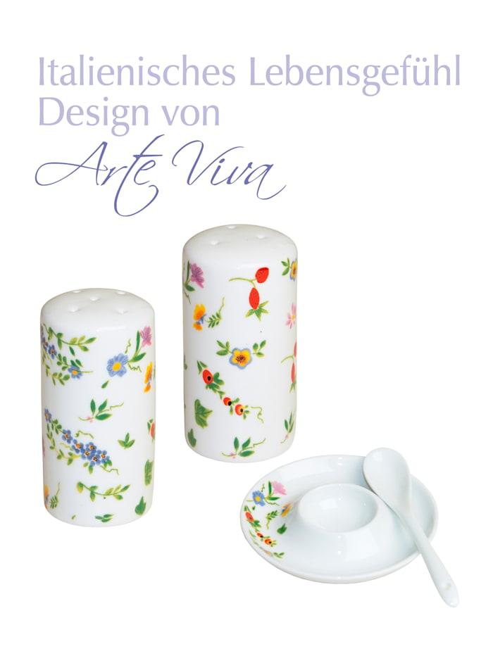 Image of 10tlg. Frühstücksset 'Millefiori' Arte Viva mehrfarbig