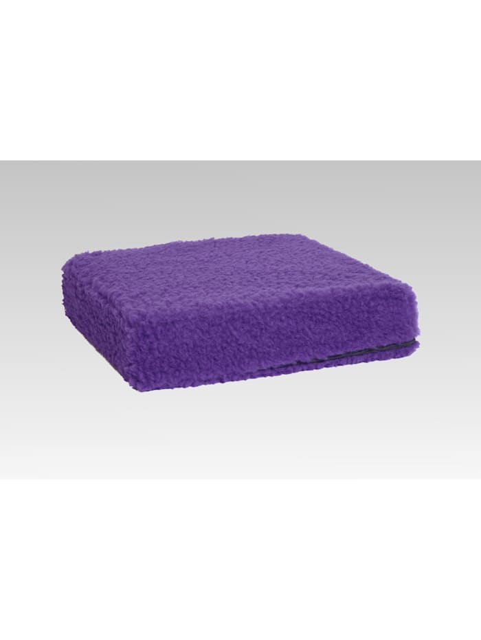 Sitzkissen Sitzerhöhung Aufstehhilfe Auto Wolle lila 40/40/10 cm Linke Licardo lila