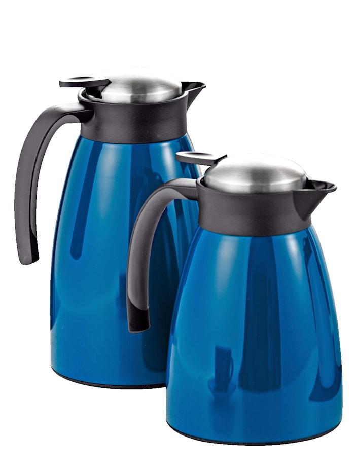 Thermoskan Glace 1,0 liter Esmeyer blauw