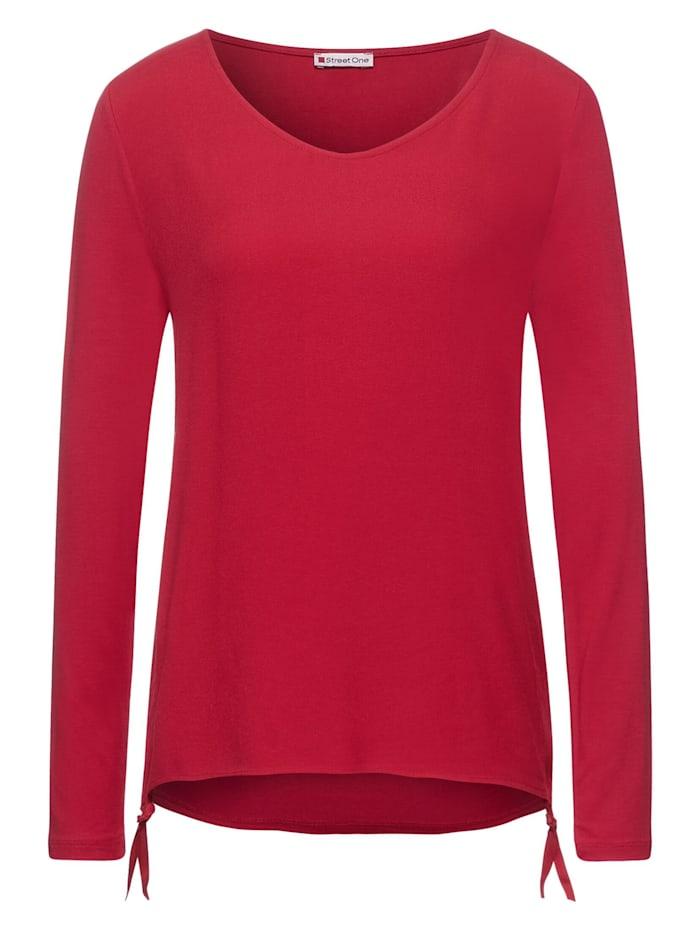 street one - Shirt mit Tunnelzugband  full red