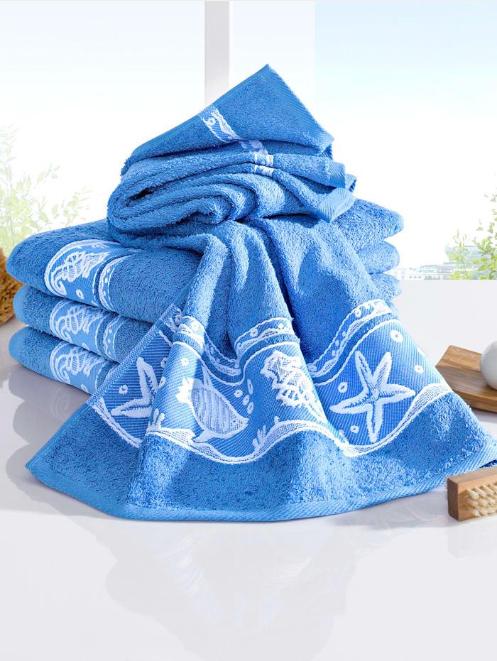 Handdoeken Schelp Webschatz lichtblauw