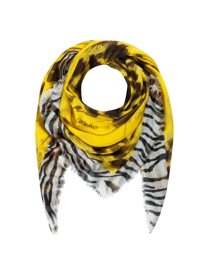 codello - Premium Leo-Tuch aus Modal und Seide  yellow