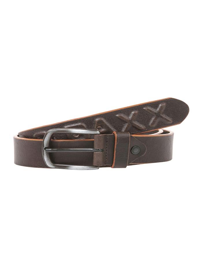 cipo & baxx - Ledergürtel mit hochwertiger Schnalle  Brown