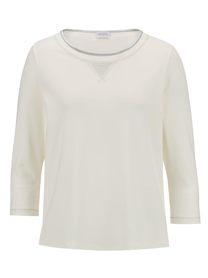 Shirt MONA Ecru::Zilverkleur
