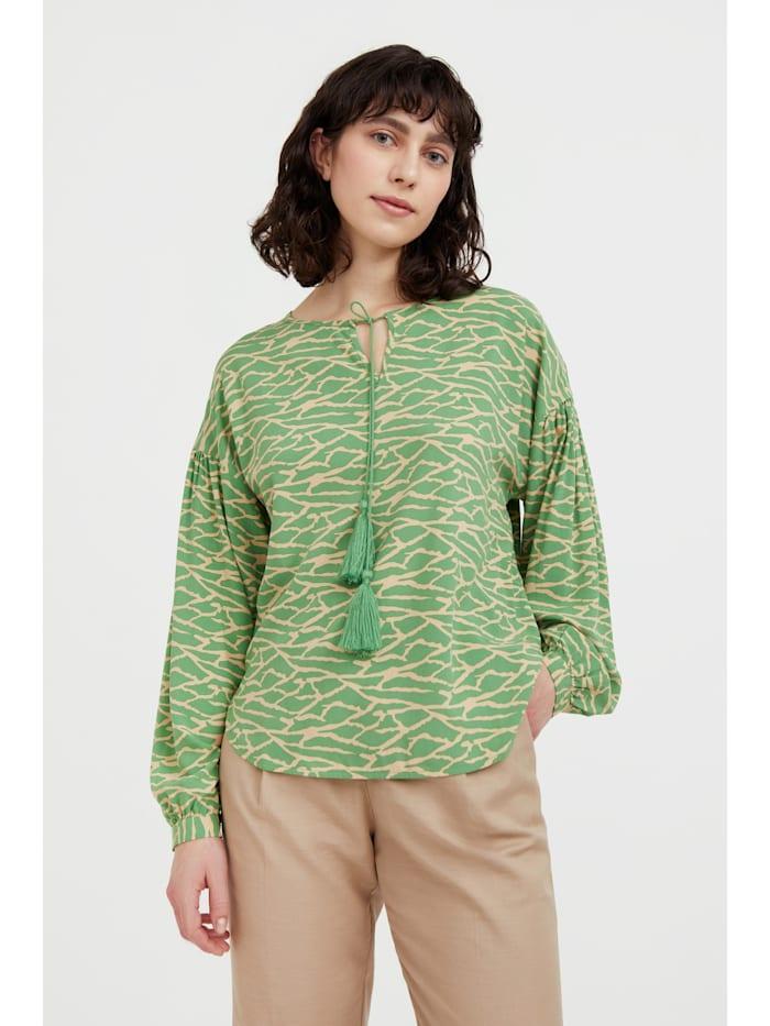 finn flare - Freizeitbluse mit modischem Alloverdruck  green