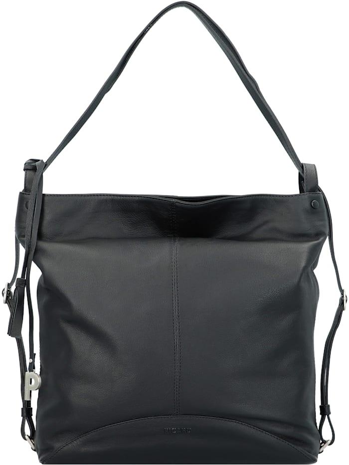 picard - Ease Schultertasche Leder 36 cm  schwarz