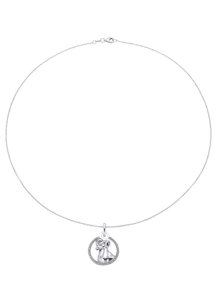Sternzeichen-Anhänger mit Kette KLiNGEL Weiß