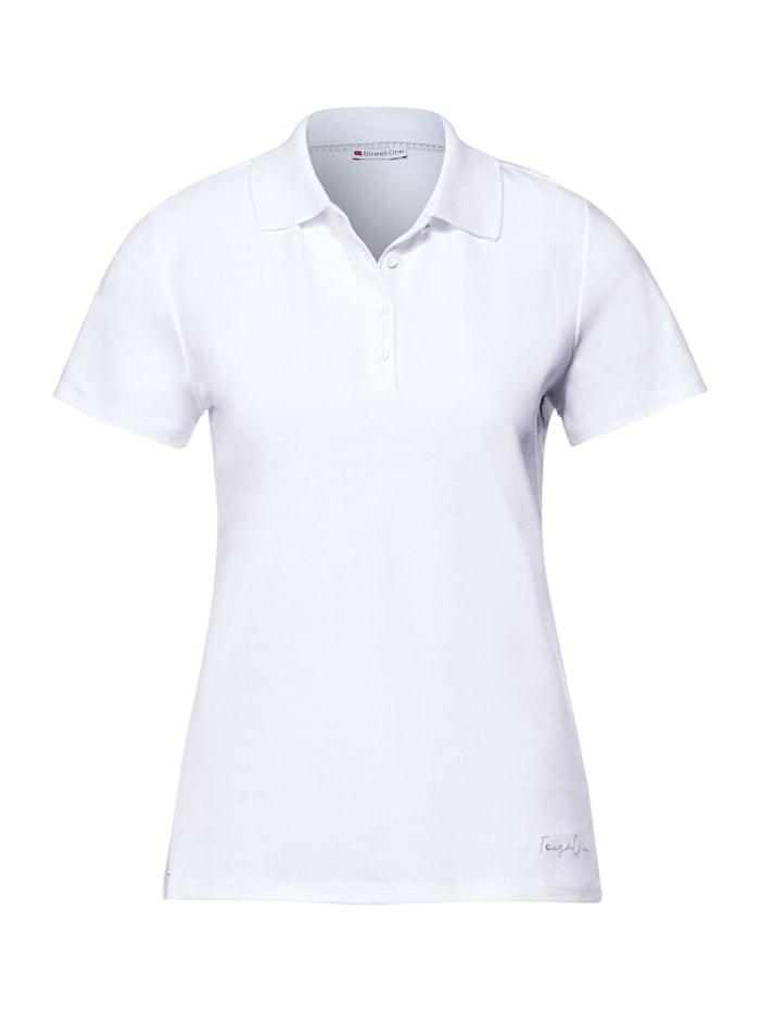 street one - Poloshirt in Unifarbe  White