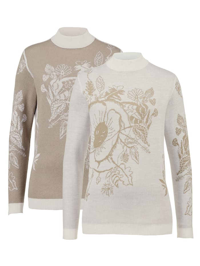 Image of Pullover Paola Beige::Taupe