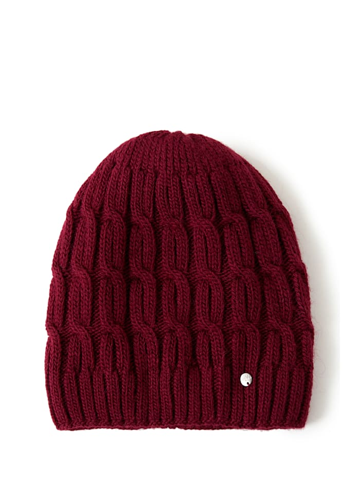 finn flare - Wollmütze mit schickem Design  dark red