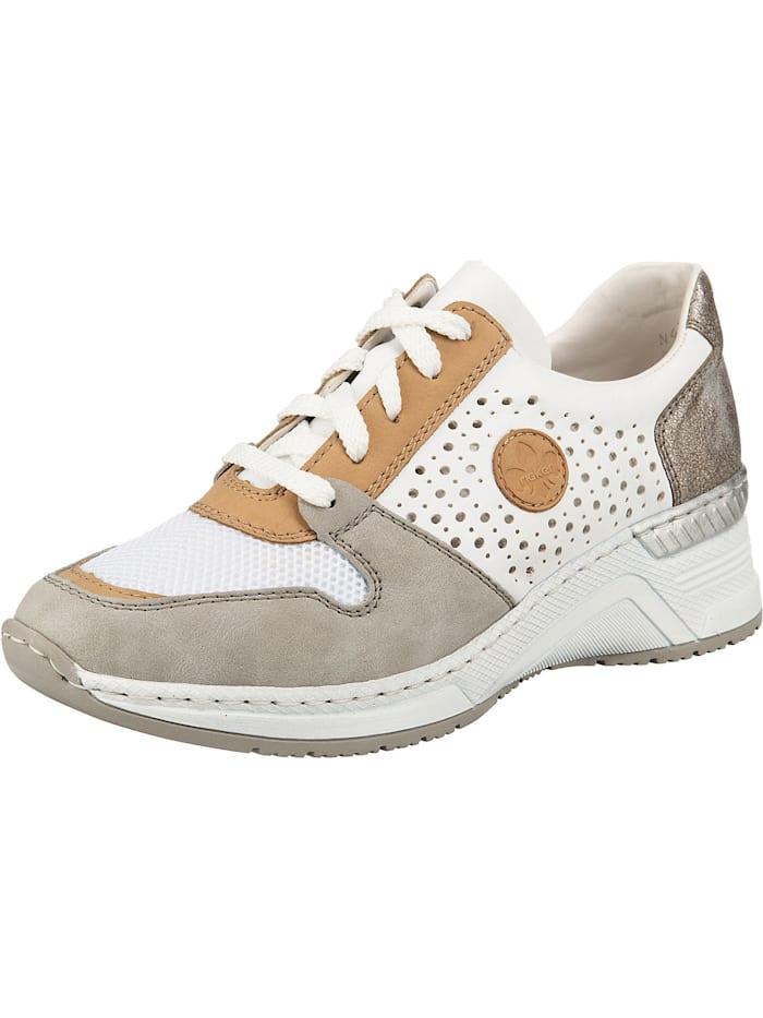 rieker - 102 Sneakers Low  grau-kombi