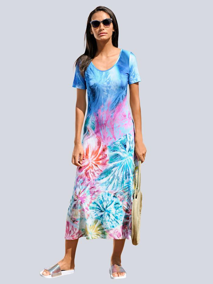 Strandjurk Alba Moda blauw multicolor