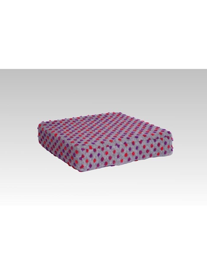 Sitzkissen Sitzerhöhung Aufstehhilfe Auto Wolle Noppen silber 40/40/10 cm Linke Licardo silber