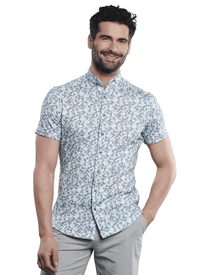 engbers - Kurzarm-Hemd gemustert  Minttürkis