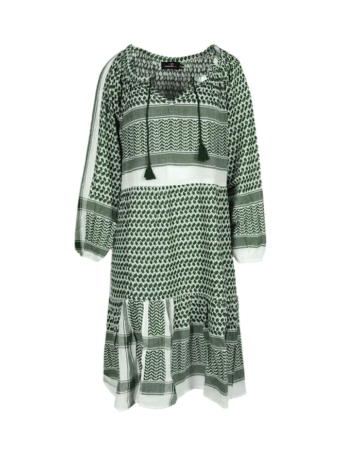 zwillingsherz - Sommerkleid Kleid Valentina  khaki/weiß