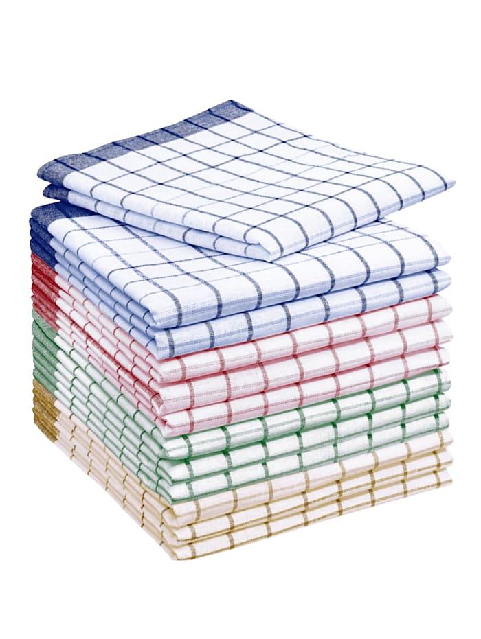 12-delige set Magic Microvezel theedoeken HSP Hanseshopping multicolor