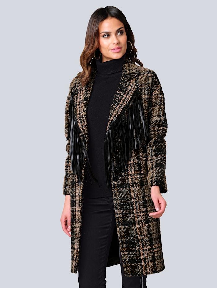 Mantel Alba Moda Zwart::Beige