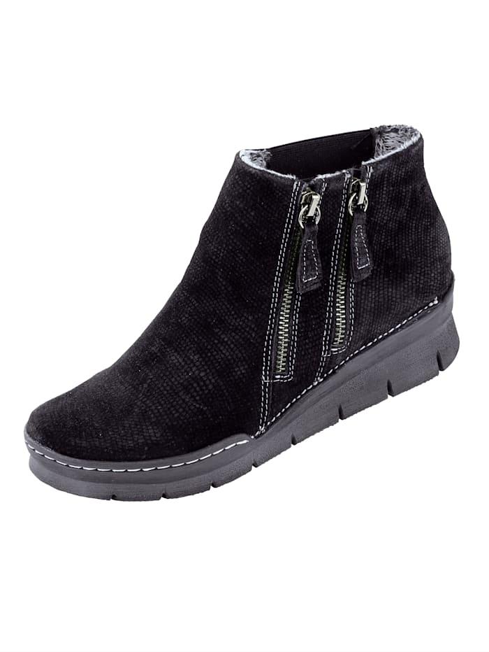 Is het tijd voor nieuwe schoenen? wat dacht u van een enkellaarsje van relaxshoe? sleehak van 4,5 cm. het ...