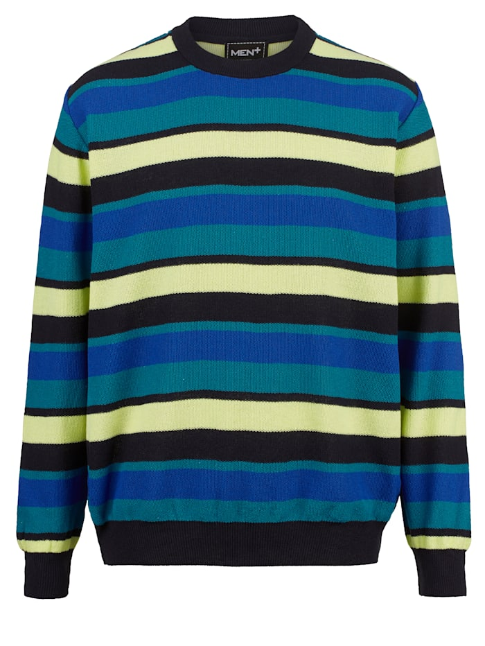 men plus - Pullover  Marineblau::Gelb