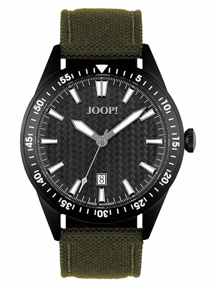 joop! - Quarzuhr für Herren, Edelstahl IP Schwarz  Grün