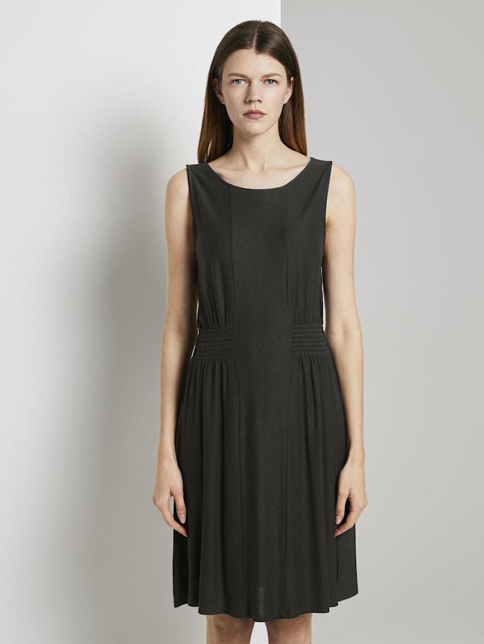 tom tailor denim - Jersey-Minikleid mit Smocking-Detail  Deep Black