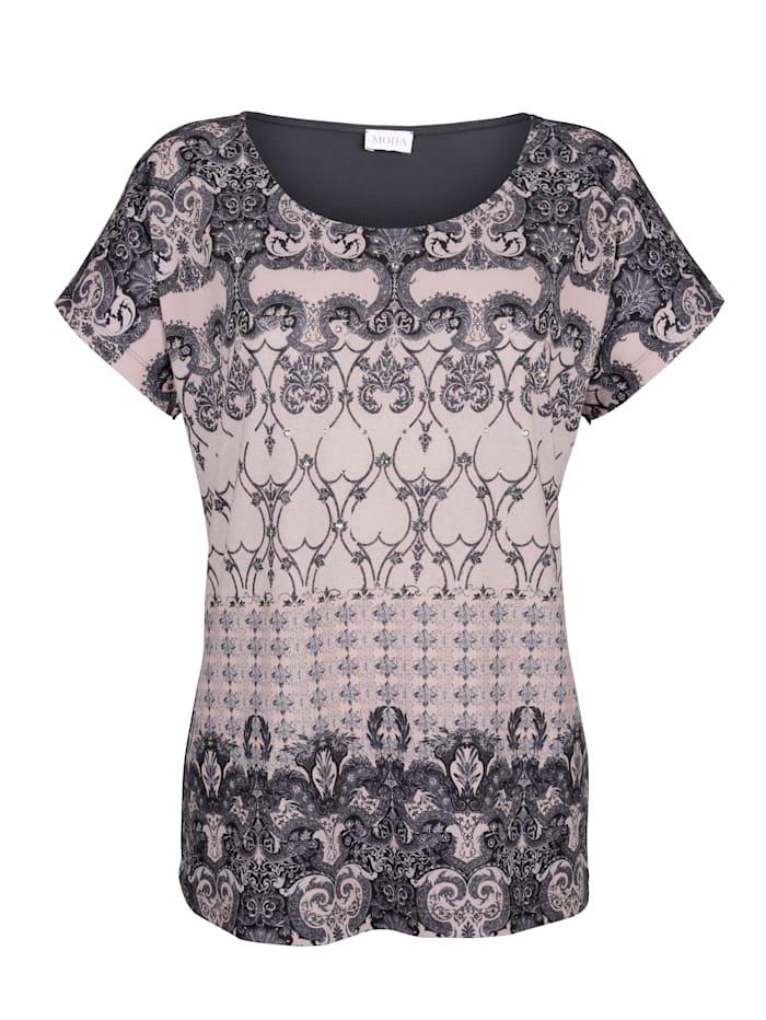 Shirt MONA Roze::Grijs