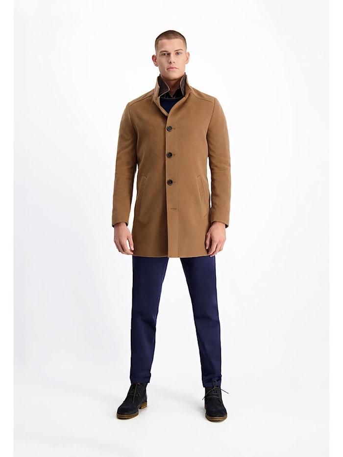 lavard - Mantel aus Melange-Stoff von höchster Qualität  kamel