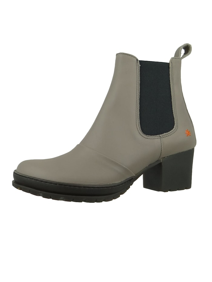 *art - Damen Leder Stiefelette Ankle Boot Camden Grey Grau 1235  Grey