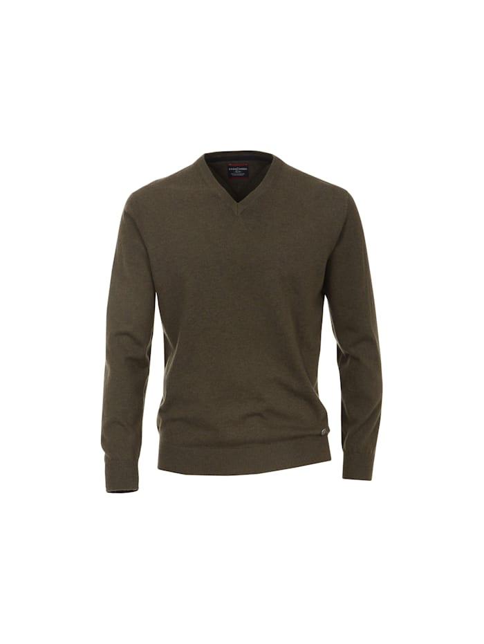 venti - V Pullover  grün