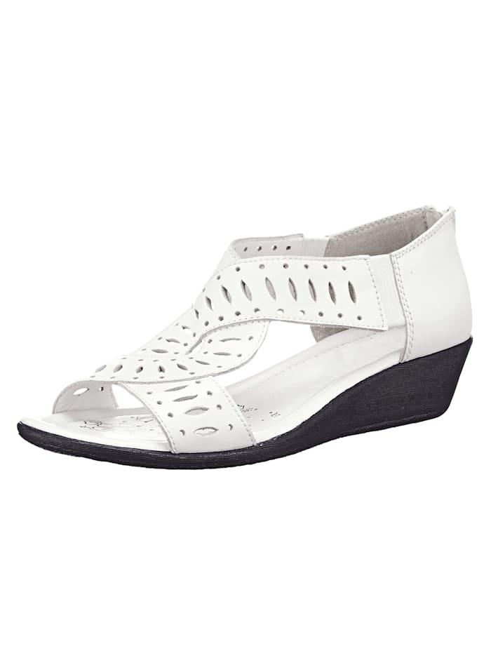 Sandalette Caprice Weiß