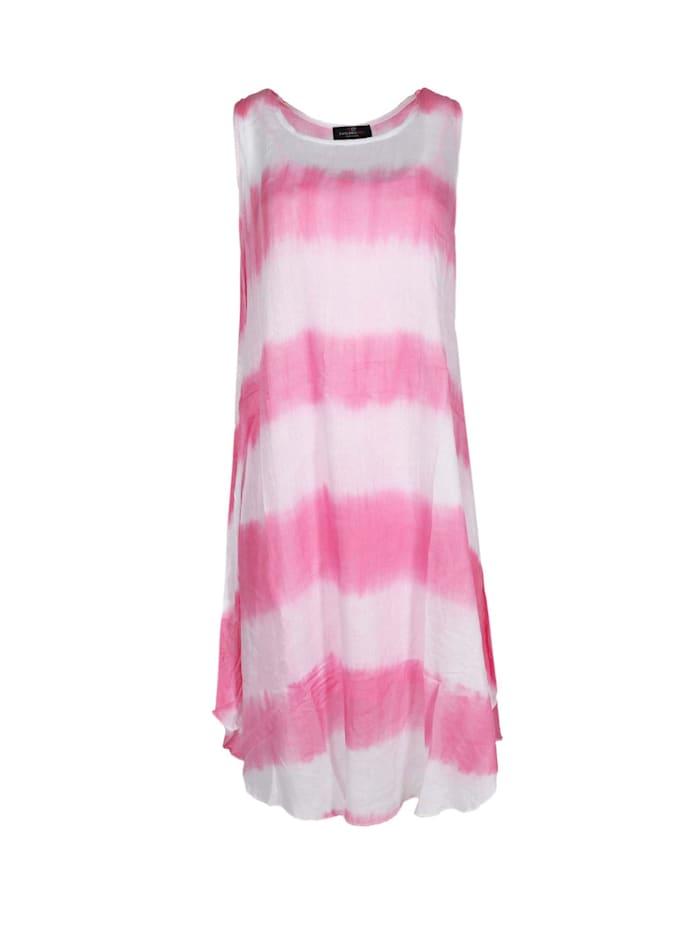 zwillingsherz - Sommerkleid Kleid Batik  pink/weiß